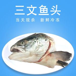 【三顿饭】三文鱼头 500g 一只 炖、蒸、烧、烤皆可 新鲜冷冻