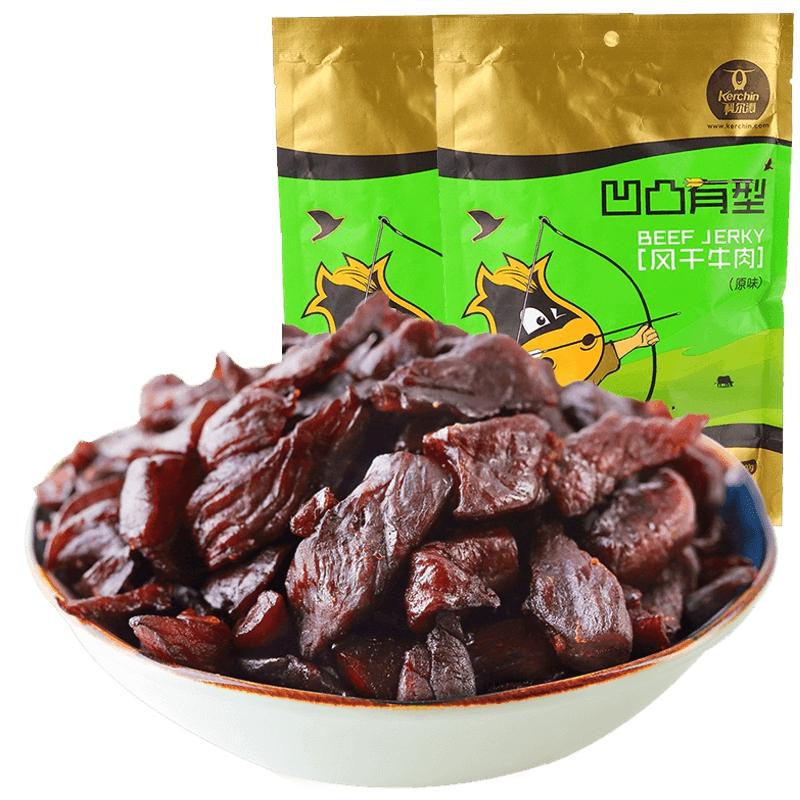 科爾沁 風幹牛肉幹200g^~2袋 原味 內蒙特產 零食