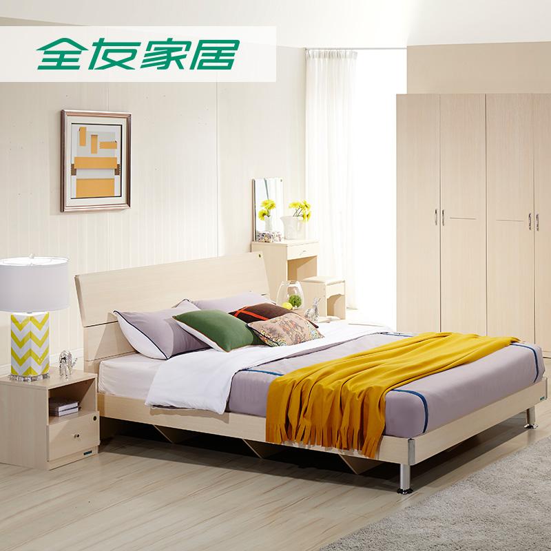 Все друг домой частное кровать современный простой живая резиденция полный мебель спальня сочетание двуспальная кровать шесть частей 106302