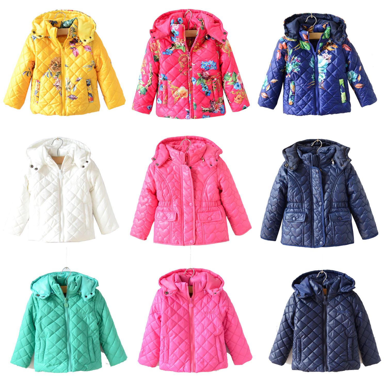Девушки зимние пальто 15 k's дом закон зимы детей классические baby одеяло печатных хлопка Одежда хлопка куртка