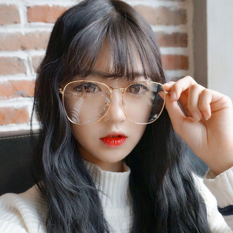 Корейский улица заказать большой коробка большое лицо тонкий очки женщина старинные золотые принадлежать круглый ясно, зеркало полка круглый лицо мужской очки волна