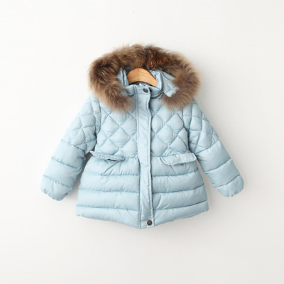 The new winter 2015 Europe and the United States more children children's wear cotton-padded jacket winter jacket of the girls really collars hooded cotton-padded clothes is recommended