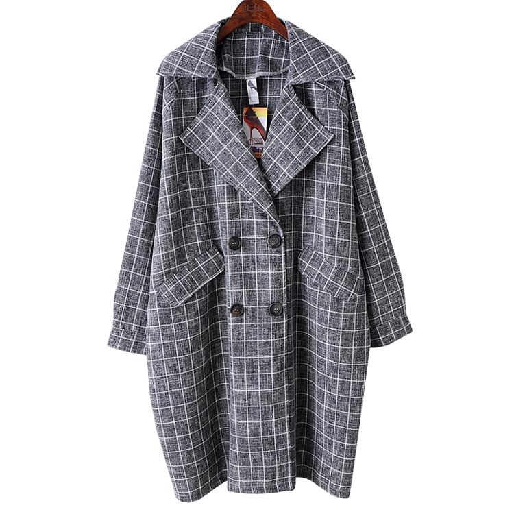 2 ретро плюс размер для похудения пакет почты Европы и Америки долго лацкане двойной грудью траншеи пальто в зимние пальто женщин