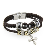 Wing forces prepared new retro leather bracelet leather bracelet men''s folk style men''s leather jewelry bracelet