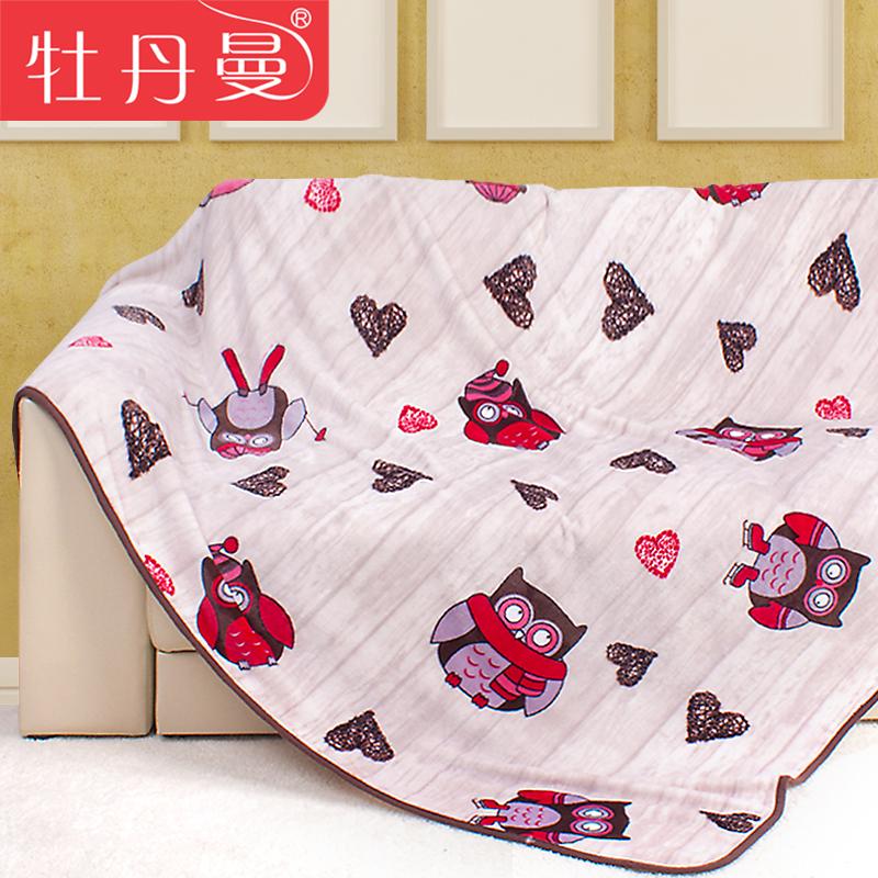Пион Pullman Кондиционер прохладным летом и весной и осенью Специальным предлагаем мультфильм летние одеяла кровать листы фланелевой одеяло Твин Твин