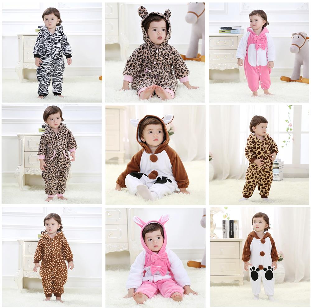 Детская одежда Детская Одежда для мужчин и женщин осенью и зимой, одежда цельный комбинезон животных младенца платье хлопка куртка
