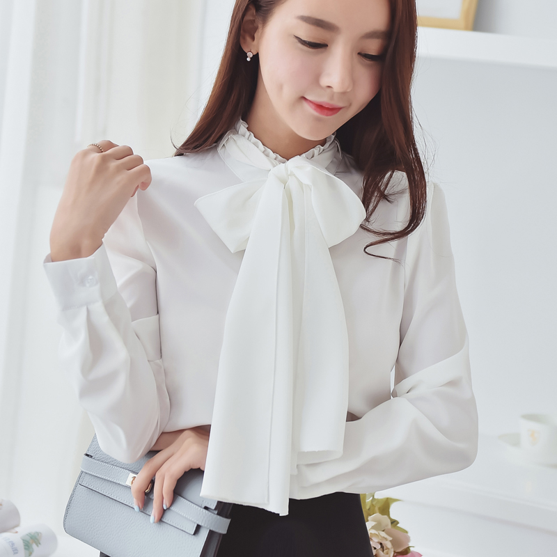 Ruffle Blouse Long Sleeve