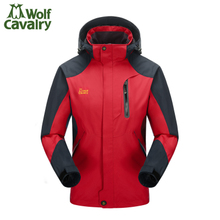 2015 new raiders outdoor add flocking ski-wear, autumn and winter Men and women lovers warm waterproof mountaineering wear