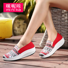 Microphone clicking fall 2015 casual flat-bottom sails breathable shoes girl Korean version of lazy tidal shoes feet shoes