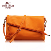 Beach mice 2015 autumn new style fashion simple casual ladies leather diagonal leather small shoulder baodan