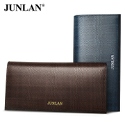Chun LAN man purse wallet leather wallet business casual Korean version of the male foreskin grip handbag card