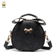 Bags women bag 2016 in the North Korean version of the new fashion cute cartoon butterfly knot shoulder bag Korean slung round package