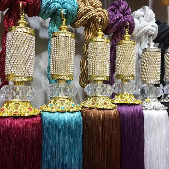 Новые звезды Кристалл инкрустированные висит шарики привязанного шар галстук обертывания галстук Кулон веревку кисточкой высококлассные роскошные шторы