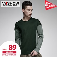 Viishow2015 spring and autumn new style long sleeve shirts color cotton men's shirts slim t-Korean version of bottoming shirt
