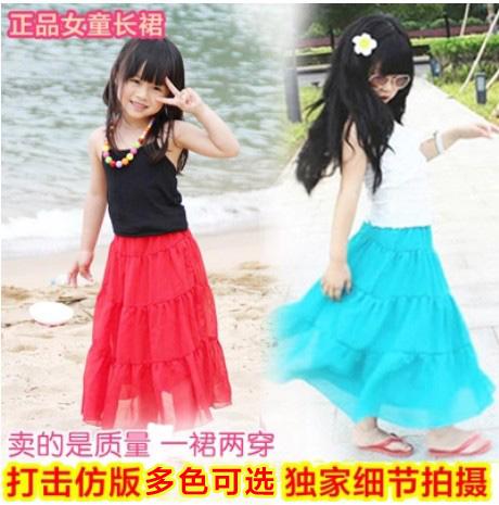2015 женщин летняя одежда мальчиков платье корейской версии богемной принцесса пляж шифон бюст платье детей платья
