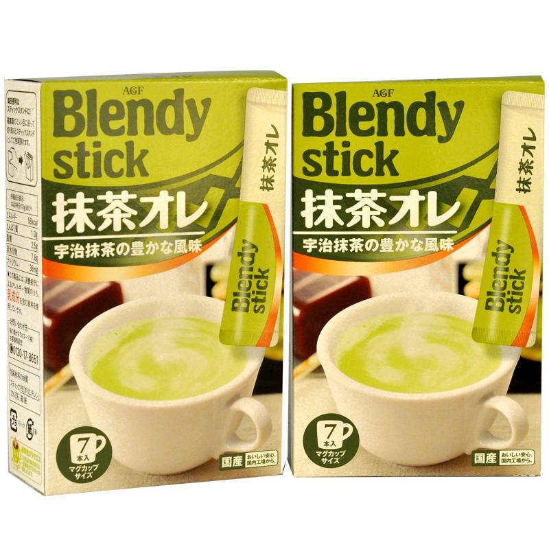 日本进口AGF抹茶欧蕾奶茶速溶奶茶84g*2擂茶饮料绿茶下午茶