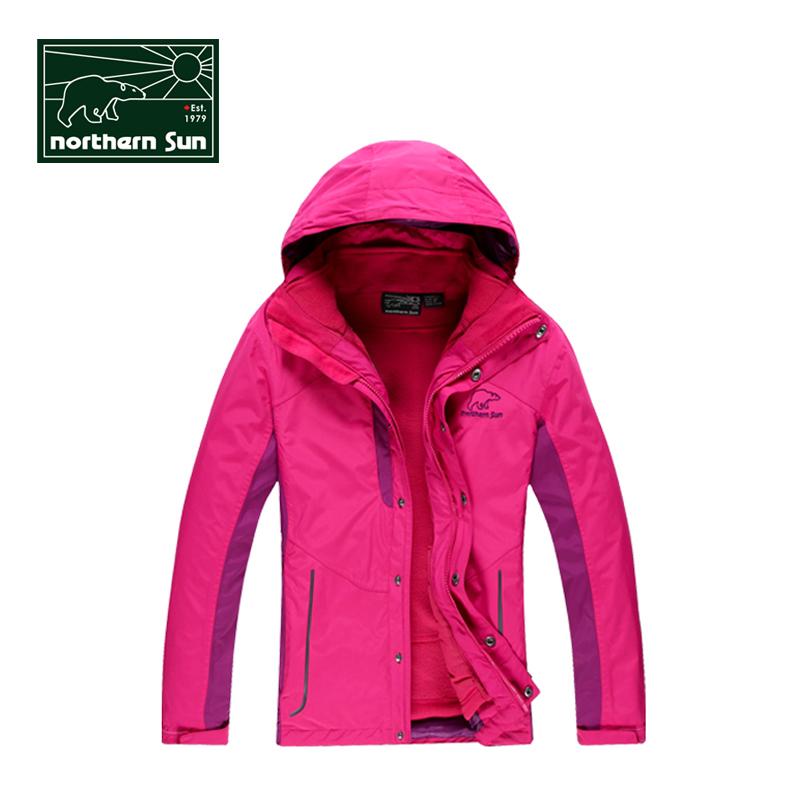 衝鋒衣女 加厚戶外大碼三合一防水透氣西藏戶外防曬外套登山服
