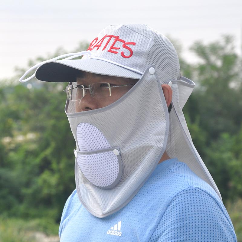 Рыбалка шляпа солнцезащитный крем крышка затенение крышка защищать лицо плащ крышка быстросохнущие крышка мужской вешать рыба складные рыбалка статьи