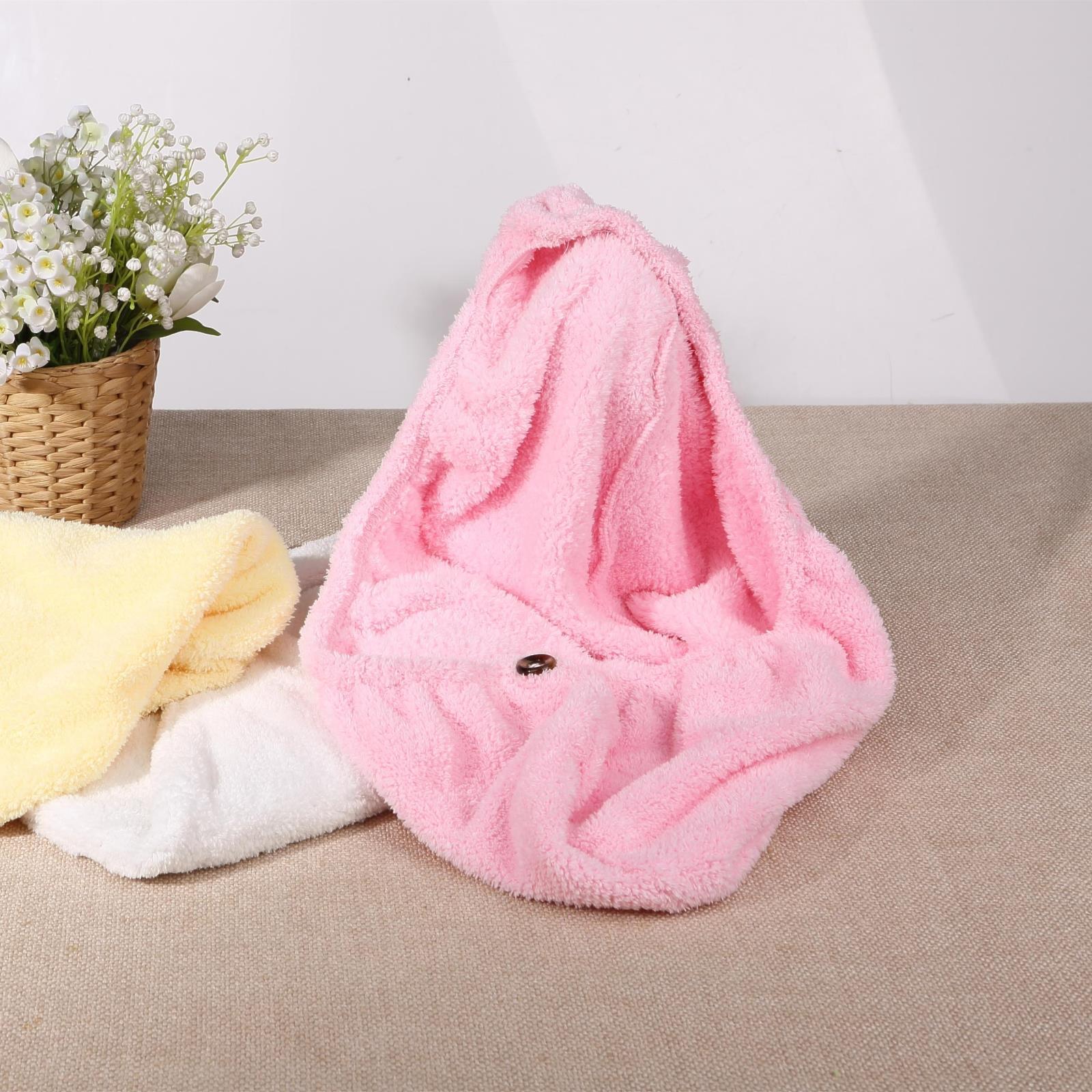 原产台湾包邮【优倍加】超细天然棉纤维绒柔软吸水干发帽不伤发质