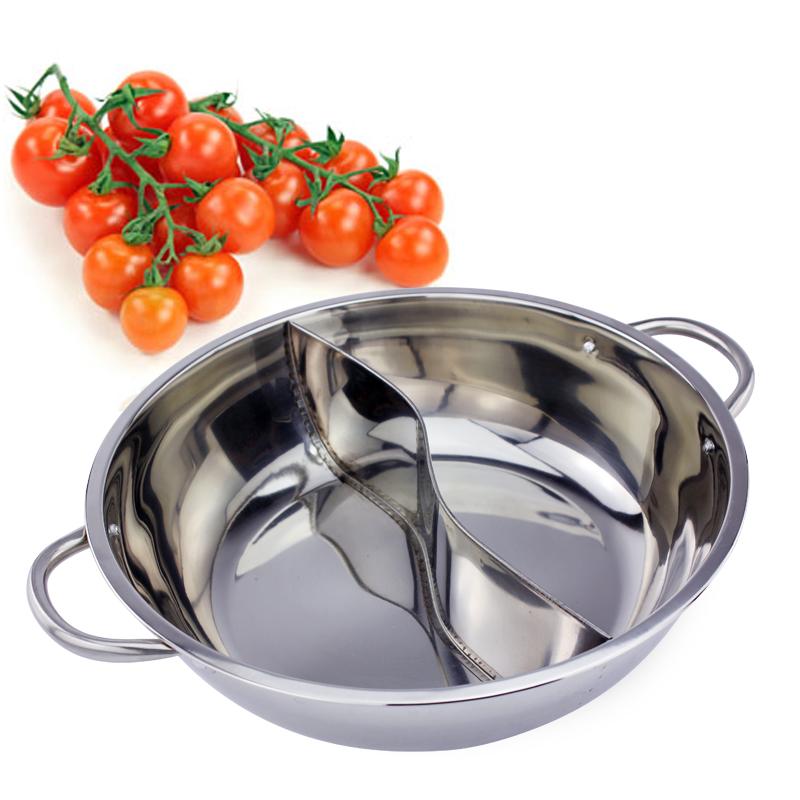 28~40cm火鍋盆清湯鍋不鏽鋼加厚鴛鴦火鍋盆家用火鍋鍋電磁爐