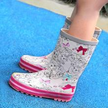 Rain patter children l summer fashionable fashionable girl girl boots l cuhk antiskid shoes for rubber water l