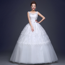 Sally beauty through the new 2015 big yards of the bride wedding pregnant women high-grade lace neat, thin shoulders wedding dresses