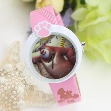 Children's cartoon table kezzi cosette purple bears strong baldheaded Xiong Daxiong two boys and girls birthday gift watches
