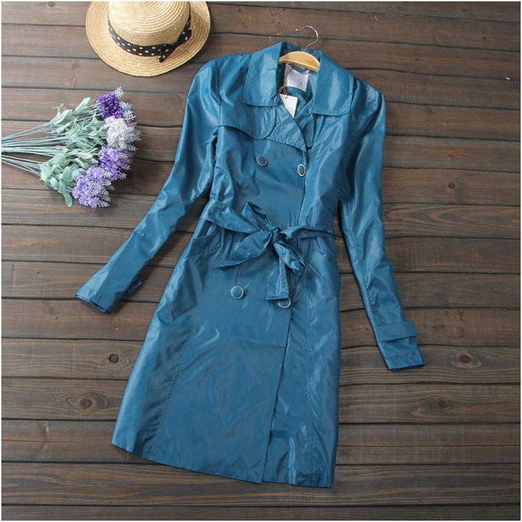 2015 году весна новые длинные двойной грудью пальто длинное пальто в оптовой и внешней торговле хаки женщин самосознания