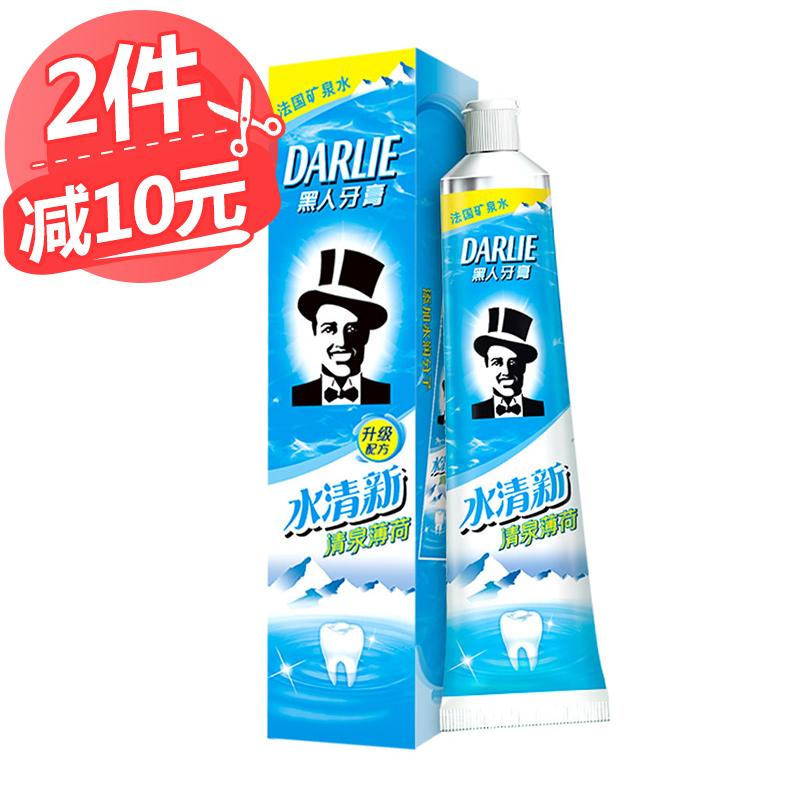 Негр зубная паста вода свежий ясно весна мята 140g ледяной чистый рот газ свежий
