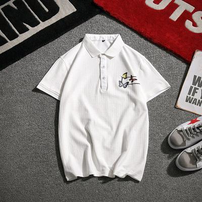 电商A041日系短袖T恤翻领夏季男装polo衫修大码身6610P50