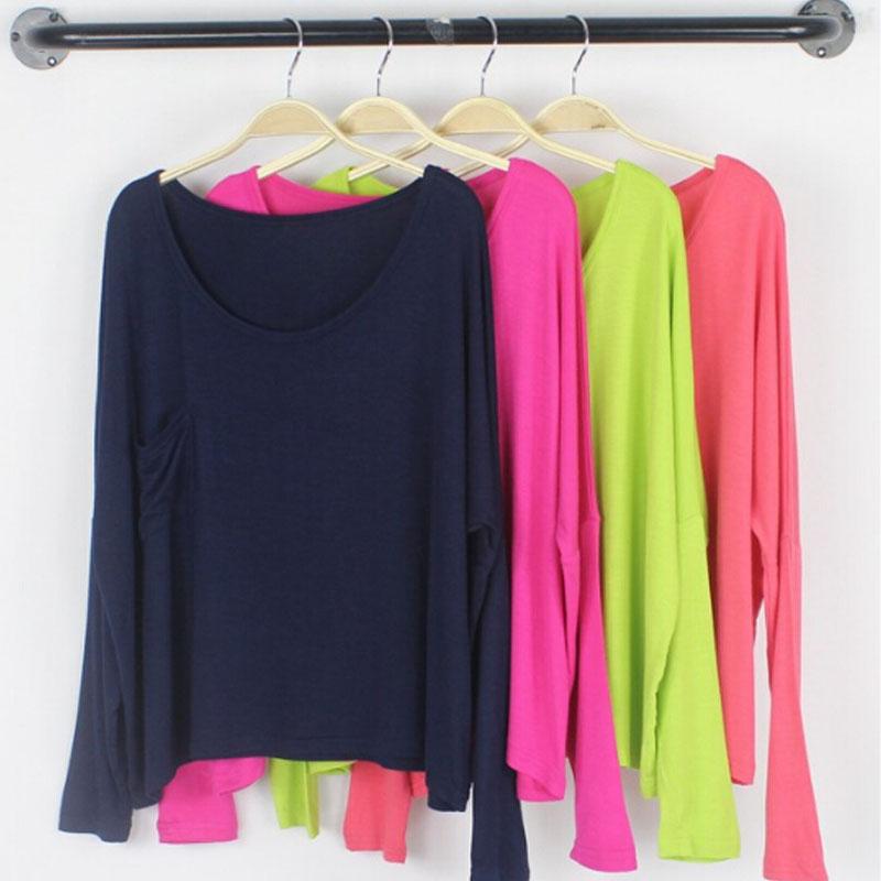 Европа коротких Би модальные ветер падения свободные размер bat шагнули плеча с длинным рукавом футболки женщин блузки топ женщин