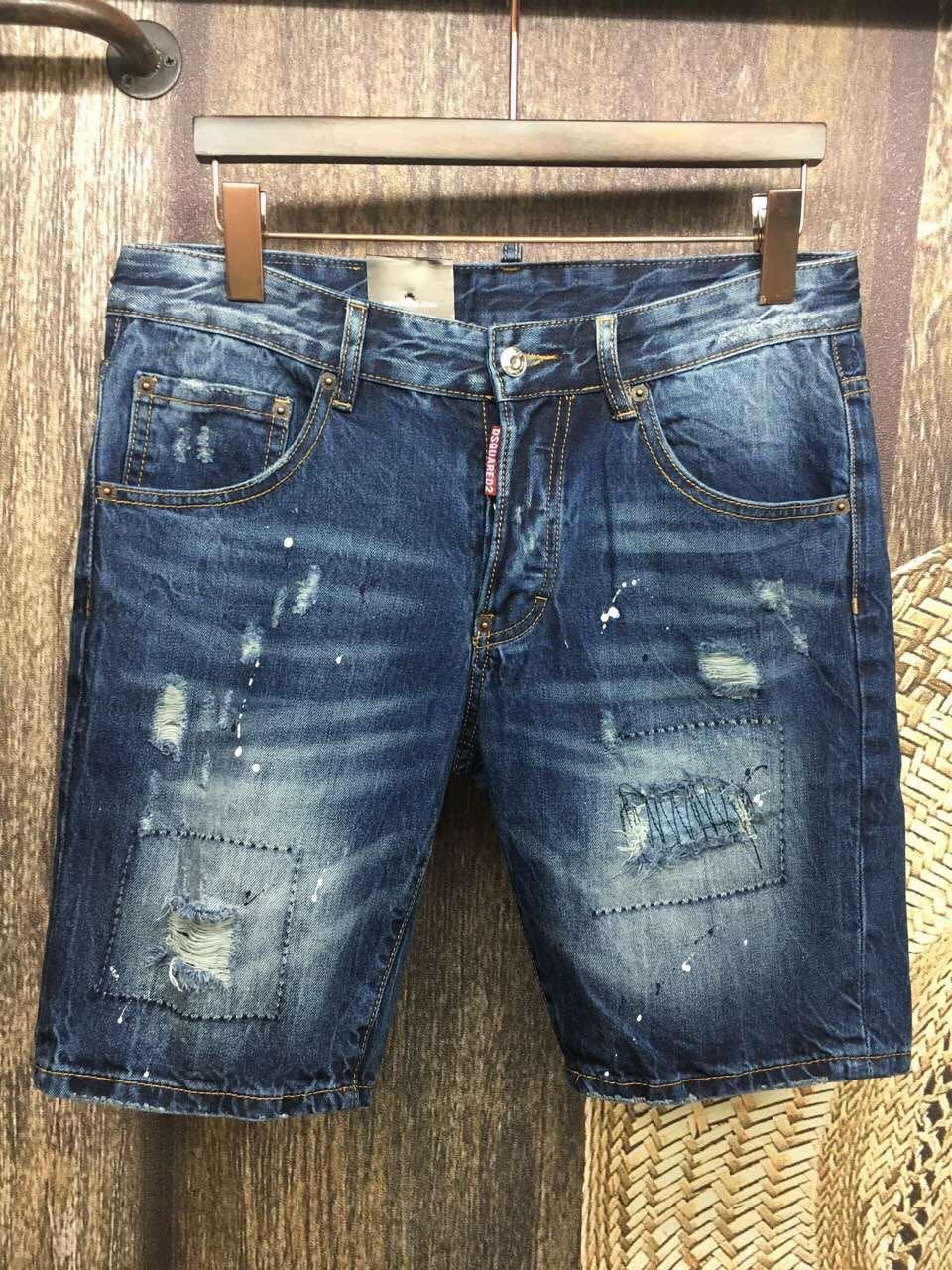 Новое отверстие качества нищих мытья старый Корейский джинсовые микро упругие Мужские шорты