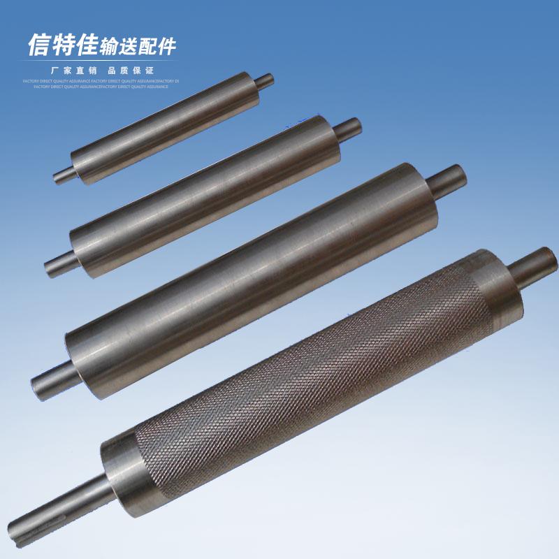 流水线不锈钢滚筒齿链轮滚筒无动力滚筒输送托辊镀锌滚轴传送辊筒