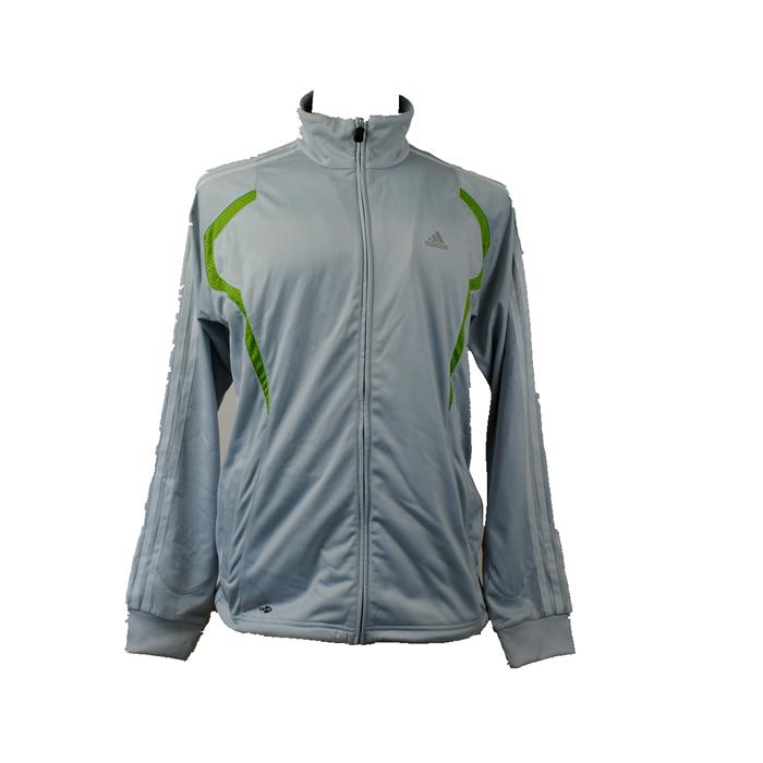 Подлинное счетчики мужской химические волокна Трикотаж полиэстер спортивная куртка серый XXL кода