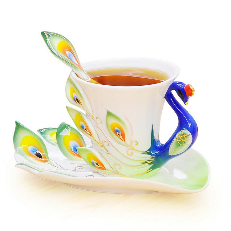 鳳凰傳奇琺瑯瓷杯