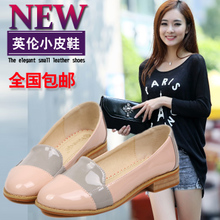 Spring in Europe and the British girl type flat with leisure shoes with flat bump color 41-43 female big yards of shoes