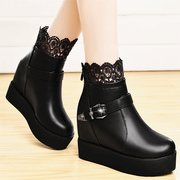 Shield Fox high lace boot with flat thick-soled platform shoes high heel platform boots women 2015 winter new style