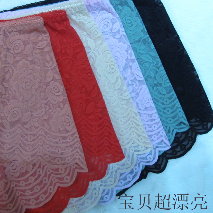 天天特价夏季蕾丝镂空内裤女大板型超 薄柔软独家定制大码热卖