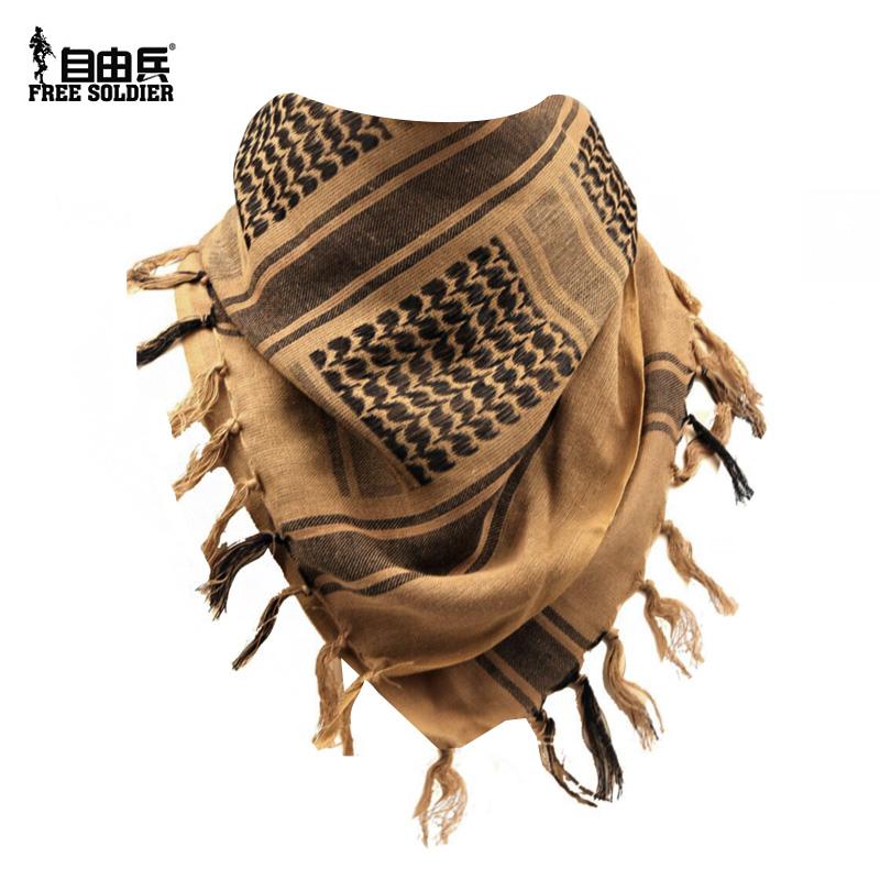 自由兵 戶外圍巾 男士套脖百變阿拉伯方巾 保暖防風軍迷用品