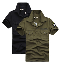 Free Knight outdoor Summer camouflage short sleeve T-shirt male and female elastic couple Tactical Army fan lapel Sailor Dance Costume