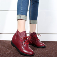 2015 new all cowhide boots before higher in female boots with low leisure shoes with big yards mother shoes 4143