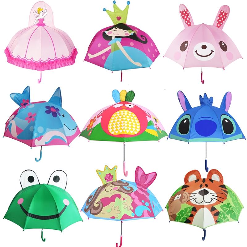 儿童雨伞卡通小雨伞韩国男女小孩长柄晴雨伞创意儿童伞公主遮阳伞