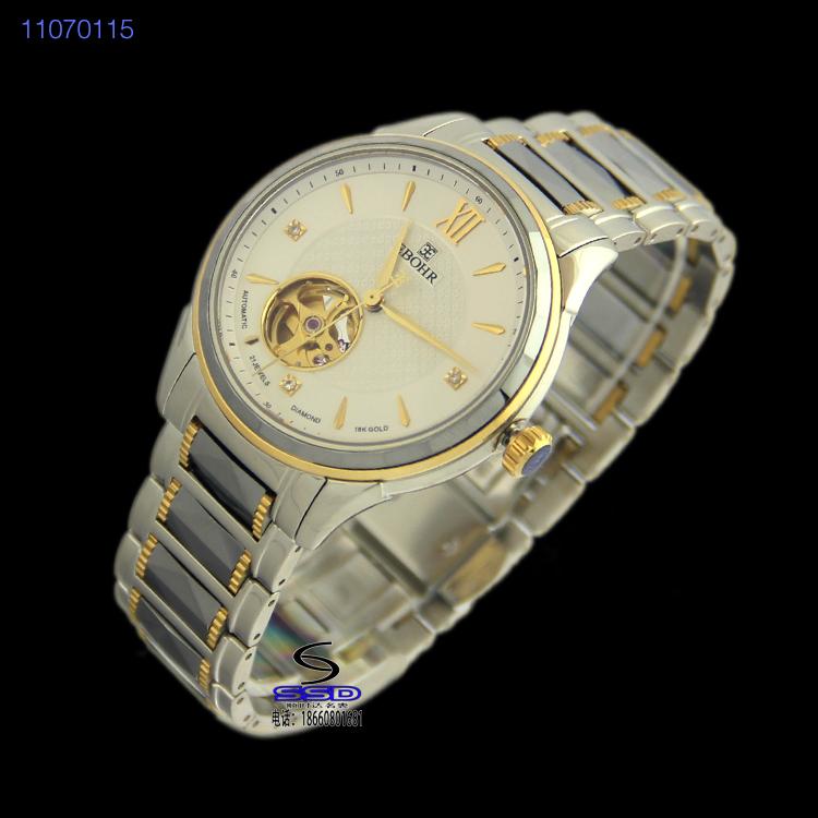 依波表11070115自动机械表男表 镂空表 钨钢表商务表 正品手表