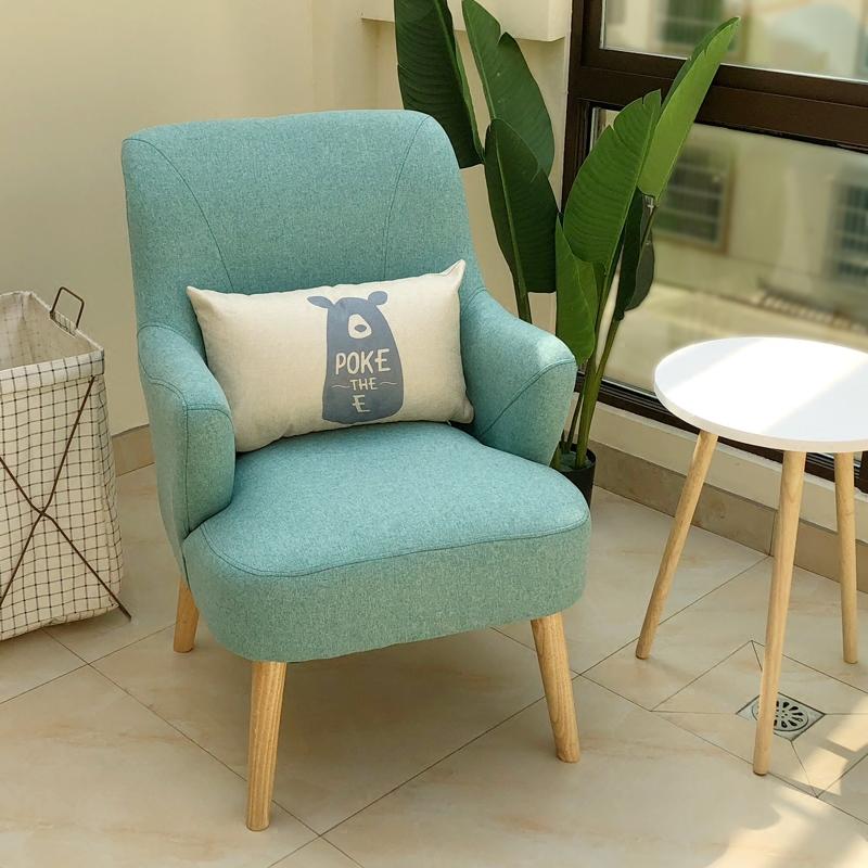 北欧单人沙发布艺酒店沙发迷你老虎椅卧室阳台沙发懒人沙发沙发椅