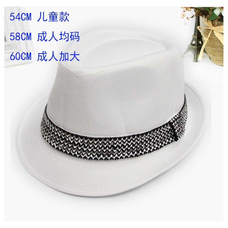MJ Michael Jackson Shanghai Beach Hat bar school performance hat hairdresser fashion hat top hat