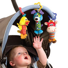 Australian playgro shooter more vivid animal bell bell/bed Can hang the stroller Baby toys