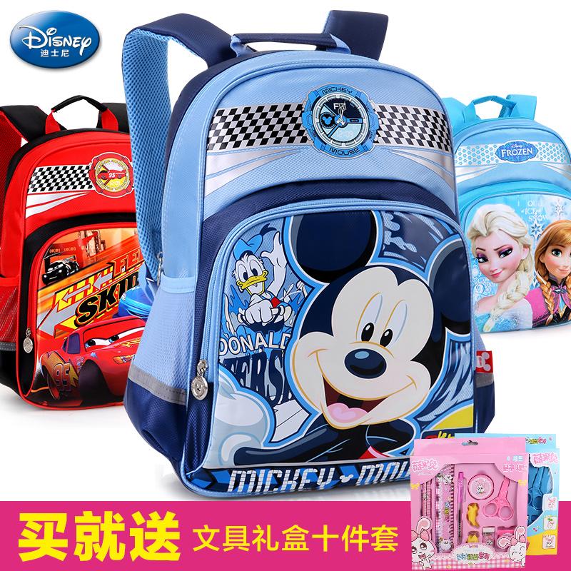 迪士尼兒童書包小學生1~3一年級米奇男童小孩雙肩6~12周歲女童7歲