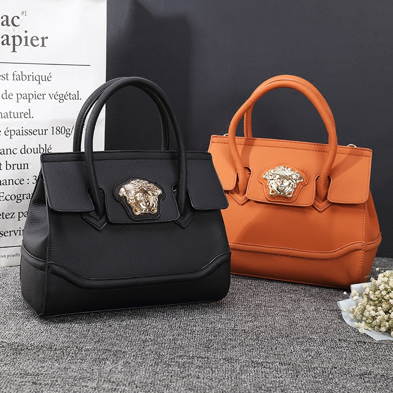 Beauty head womens bag 2020 new temperament hand bag big bag large capacity single shoulder bag simple big brand same bag