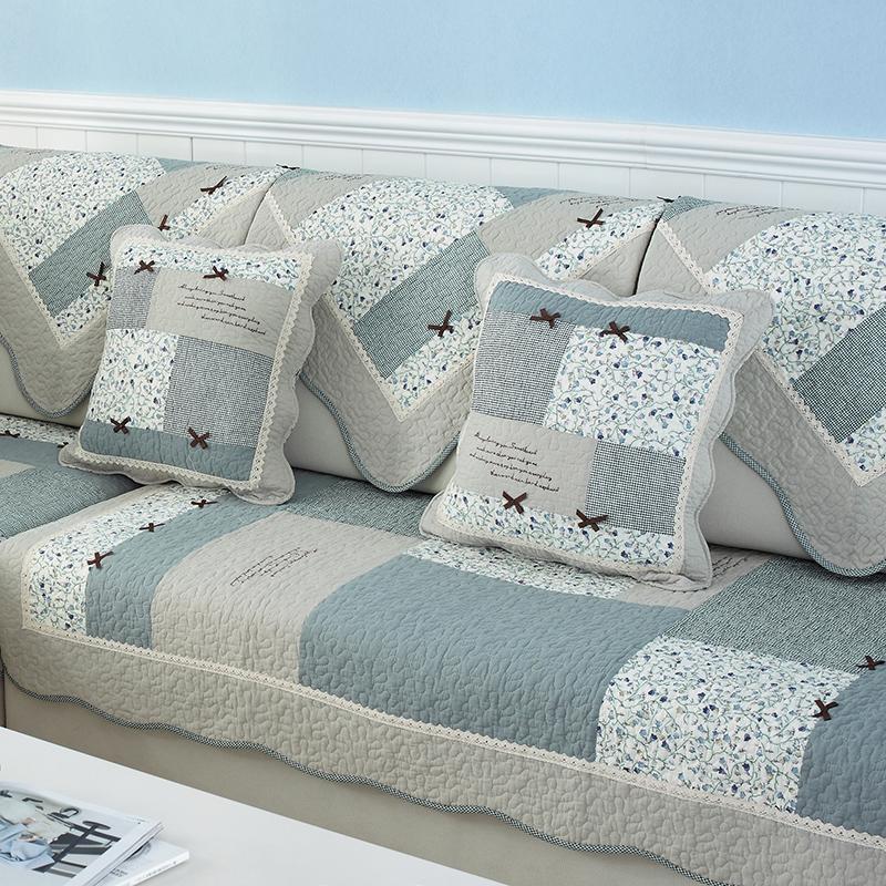 沙发垫布艺全棉防滑沙发坐垫田园纯棉四季通用现代简约沙发巾套罩