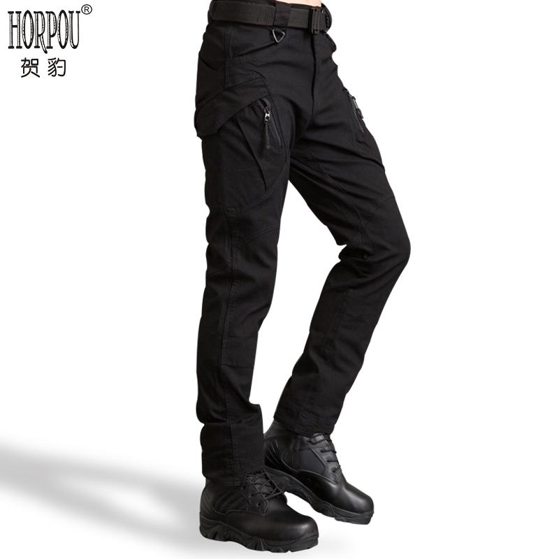 贺豹IX7/9战术长裤特勤休闲裤子军裤男士修身多口袋工装裤特种兵